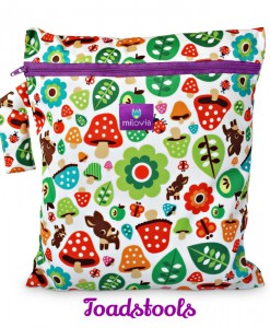 milovia wet bag toadstools