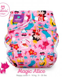 milovia unique Magic Alice nappy cover one size 1