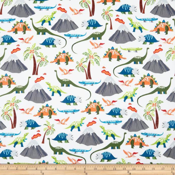 tela dinosaurios blanca