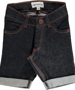 pantalon corto vaquero niño oscuro delante