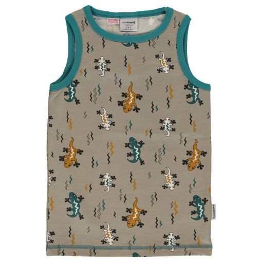 camiseta sin mangas niño lagartija