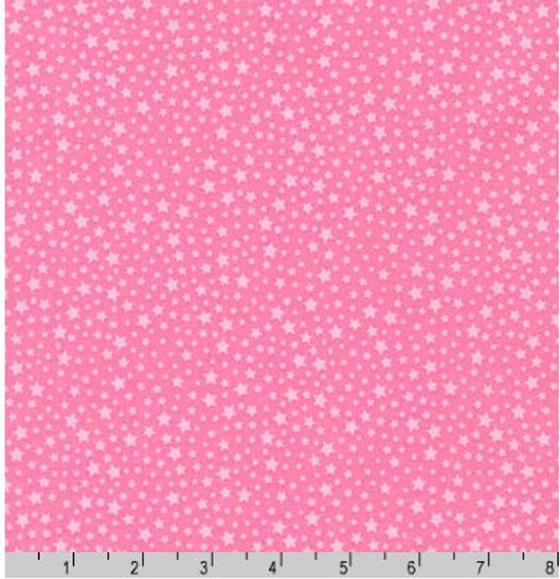 tela estrellas mini rosa